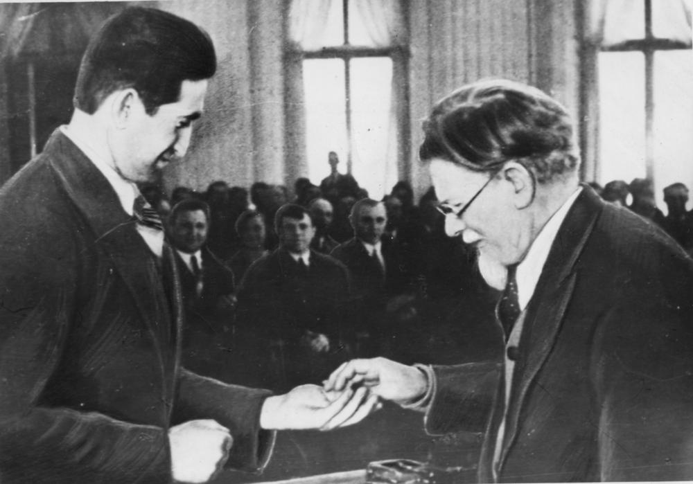 Вручение заводу «Электросила» ордена Ленина. 1939 год