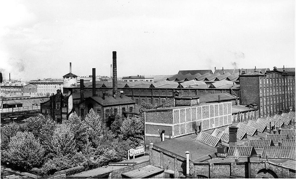Вид завода «Электросила». Ленинград. 1950-е годы