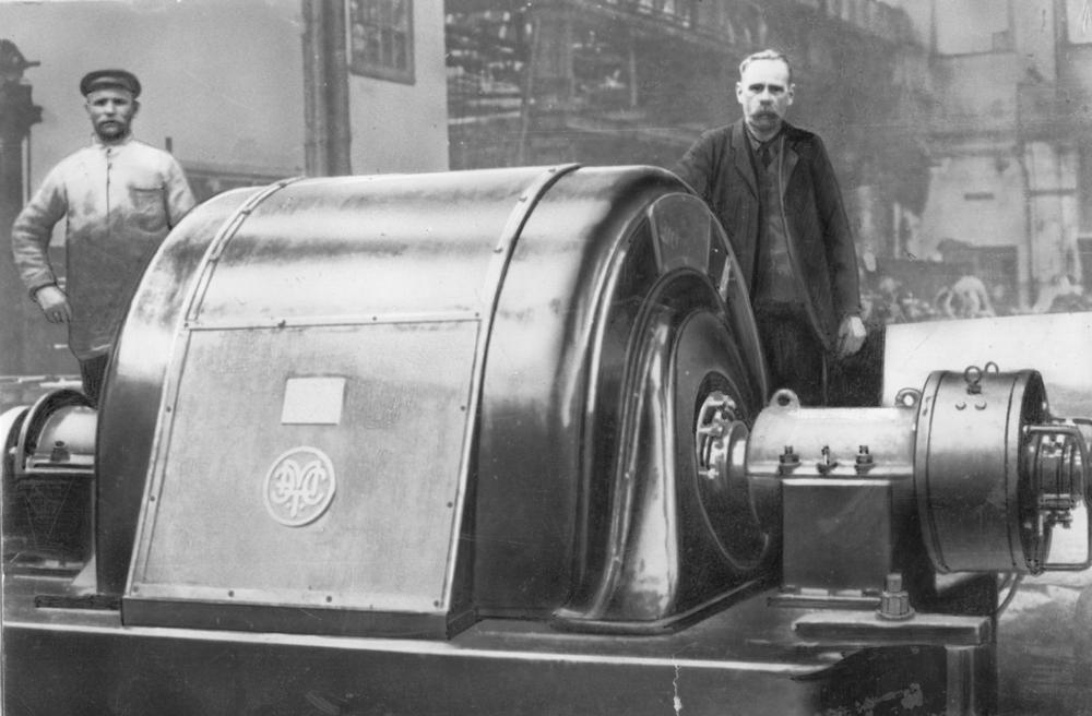Турбогенератор для Гомельской ТЭС. 1924 год
