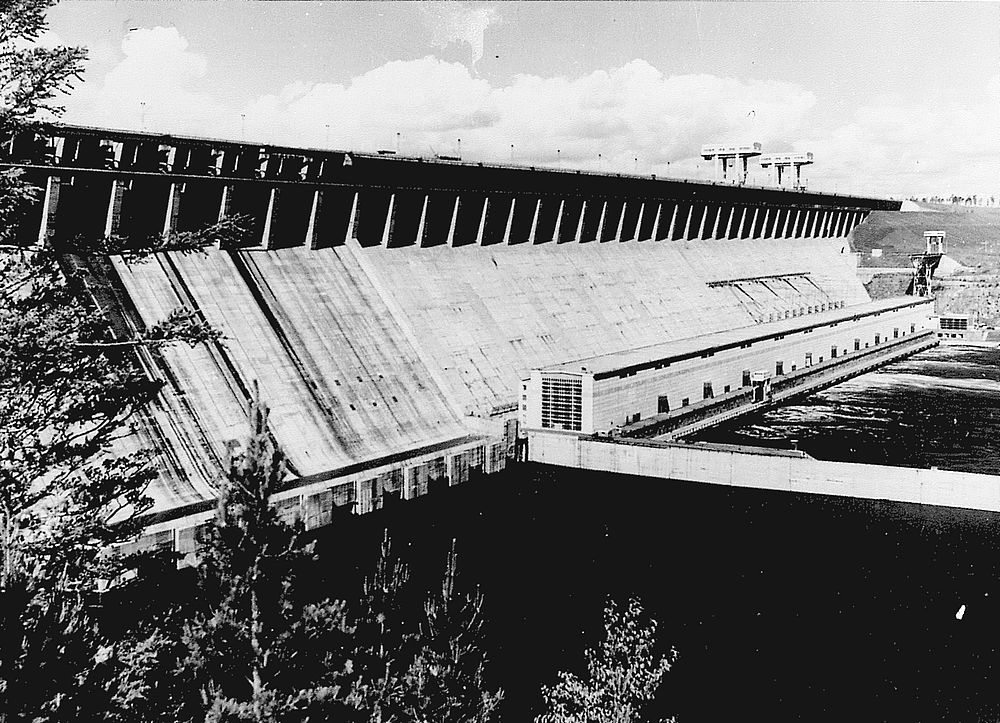 Братская ГЭС. 1967 год